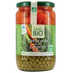 Petits pois très fins et carottes bio 660g