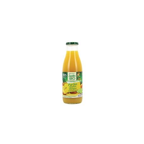 Pur jus ananas mangue citron vert bio  75 cl