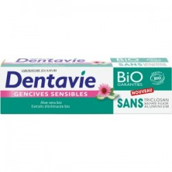 Dentifrice • gencives sensibles • aloe vera bio • Dentavie