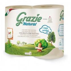 2 rouleaux essuie-tout compact Grazie Natural