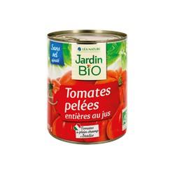 Tomates entières pelées au jus bio – 800g