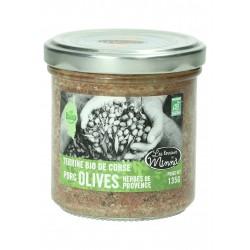 Terrine Bio porc olives herbes de Provence 135 Gr