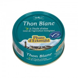 Thon blanc germon entier huile olive 160gr MSC