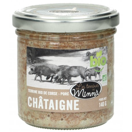 Terrine Bio de Corse - Porc Châtaigne- 140 g