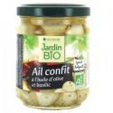 Ail confit à l'huile d'olive et basilic bio 190g