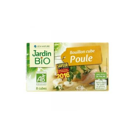 Bouillon cube poule bio - sans huile de palme ( 8 cubes)
