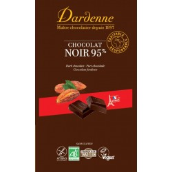 Chocolat tablette  noir 95% 90gr- Dardenne