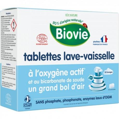 Tablettes lave-vaisselle à l'oxygène actif et bicarbonate de soude, film hydrosoluble