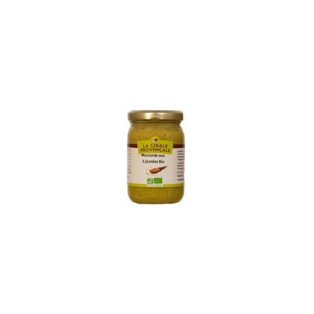 Moutarde aux 5 plantes BIO 200g