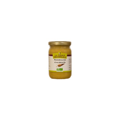 Moutarde miel et épices BIO 200g