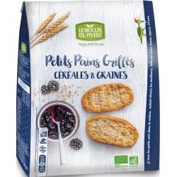 Petits Pains Grillés Céréales et Graines Le Moulin du Pivert