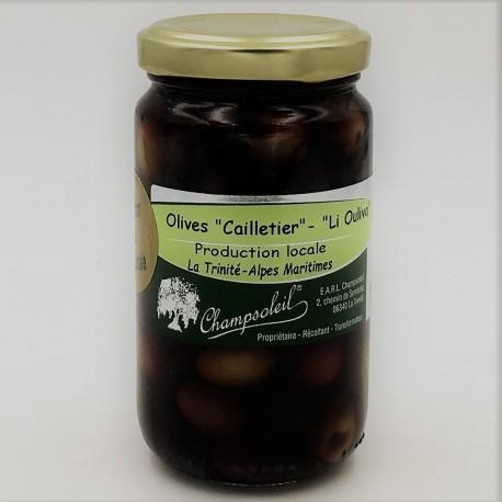 Olives noires entières variété cailletier Champsoleil- 130g