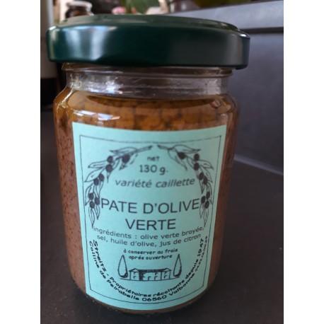 Pate d'Olives  varieté caillete  Domaine de Peyrebelle 130g