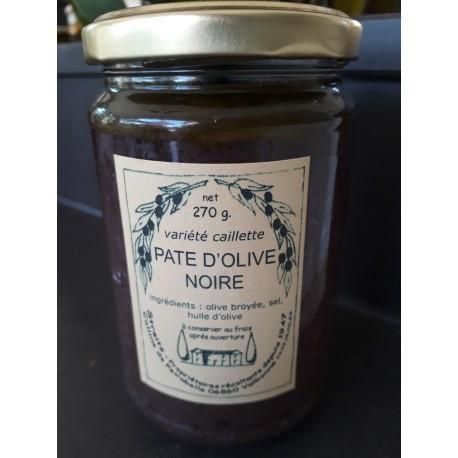 Pate d'Olives noires varieté caillete  Domaine de Peyrebelle 270g