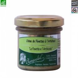 Crème de Févettes à l'artichaut Bio - Champsoleil 100g