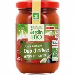 Sauce tomate Duo d'olives vertes et noires 200g