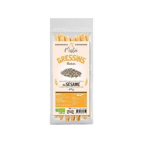 Gressins à l'huile d'olive - 200g Malvi