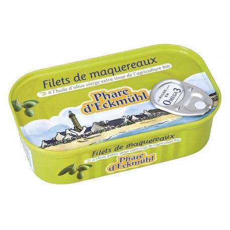 Maquereaux filets MSC  huile olive 118g