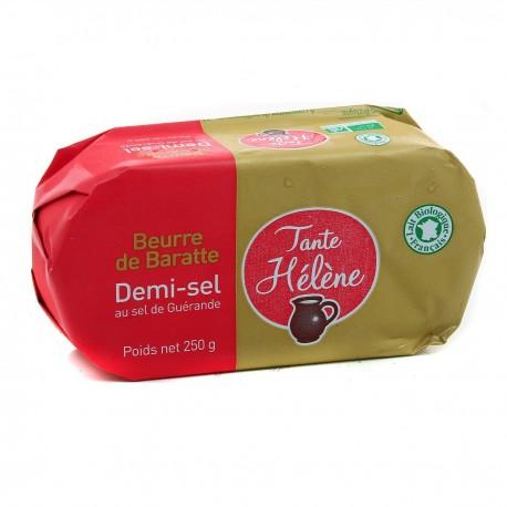 Beurre de baratte  demi sel  250g tante helene