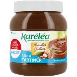 Pâte à tartiner noisette cacao sans sucres ajoutés et sans huile de palme karéléa 750g