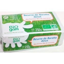 Beurre doux Biogam 250g