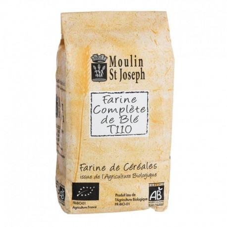 Farine de blé T110  1kg  Moulin Saint Joseph