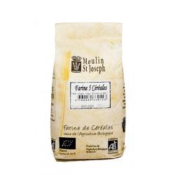 Farine de blé 5 céréales   1kg  Moulin Saint Joseph
