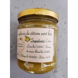 Confiture citron vert bio , 250 g