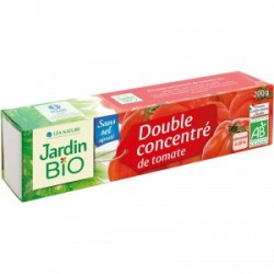 Double concentré de Tomate sans sel ajouté - tube 200 g