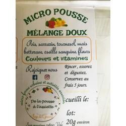 Mélange doux Micro Pousses 35 40 g  grande barquette