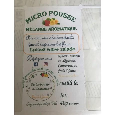 """Mélange """" doux"""" Micropousses 40 g (la barquette)"""