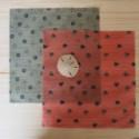 Wraps  Pack duo moyen Deux emballages en cire d'abeille taille M