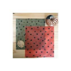 Wraps  Pack duo grand: deux emballages en cire d'abeille taille L
