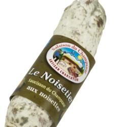 Saucisson aux Noisettes – Le noisetier 200 g environ Echanges Paysans