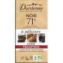 Tablette chocolat noir à patisser 71% Dardenne 200g