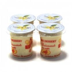 Crème dessert vanille  125 G  à l'unité. Echange Paysans
