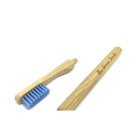 Brosse à Den Bambou Adulte Tête souple bleu amovible