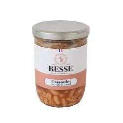 Cassoulet Landais au confit   bocal 750 g Maison Besse