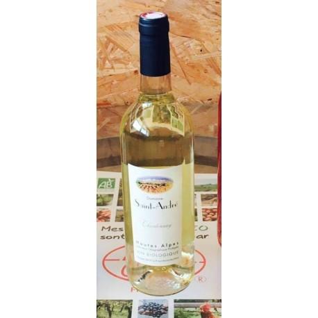 """Vin blanc Chardonnay """"Domaine Saint André"""" 75cl Bio"""