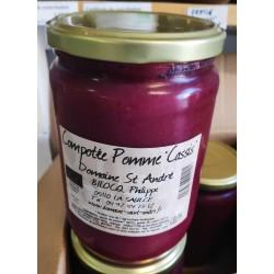 Compote purée pomme cassis Bio en pot de 630g