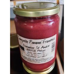 Compote purée pomme Framboise Bio en pot de 620g