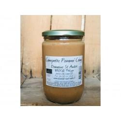 Compote purée pomme Coing Bio en pot de 620g