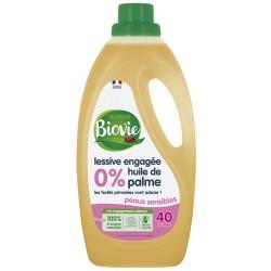 Lessive engagée sans  huile de palme 2 litres - PEAUX SENSIBLES -