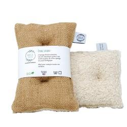 MARCIA -- Éponge lavable coton bio et toile de jute