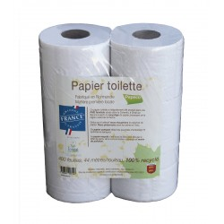 Papier toilette recyclé francais écolabel -  6 rouleaux de 400 feuilles