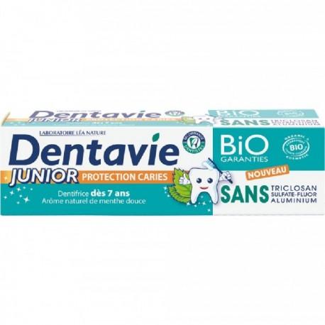 Dentifrice junior  + 7 ANS , arome naturel menthe douce