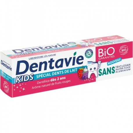 Dentifrice kids + 2 ANS, arome naturel fruits rouges