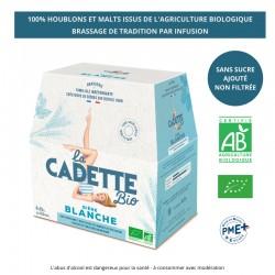 Bière traditionnelle blanche La Cadette 25 cl