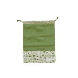 Sac à légumes en coton biologique Vert 30x40 cm