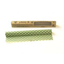 Rouleau d'emballage alimentaire 1m réutilisable à la cire d'abeille Vert 30x100 cm